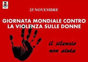 25 NOVEMBRE 2019 – GIORNATA CONTRO LA VIOLENZA SULLE DONNE